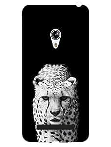 Asus Zenfone 5 Back Cover - Monochrome Leopard - Big Cats - Designer Printed Hard Shell Case