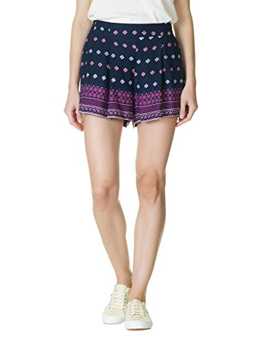 jessica-simpson-womens-womens-blue-shorts-with-colorful-print-in-size-m-blue