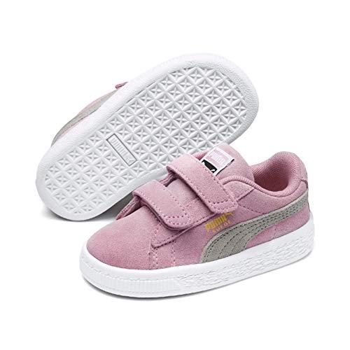 Team 2 Schuhe (Puma Unisex-Kinder Suede 2 Straps PS Sneaker, Pink Lady Team Gold 23, 29 EU)
