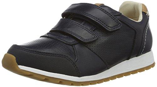 Clarks Zest Tex, Sneakers Basses Garçon Bleu (Navy)