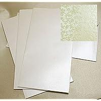 Arazzo cotone bianco applique buste DL 20per confezione