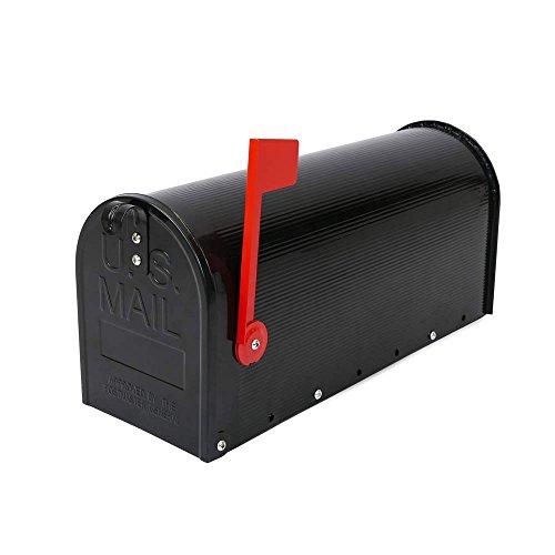 Boîte aux lettres US Mail aluminium pour courrier américain noir par PrimeMatik