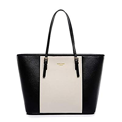 Handbags for Women, Tote Bag Soft PU Leather Large Capacity Ladies Handbag Womens Top Handle Shoulder Bag For women Black Handbag