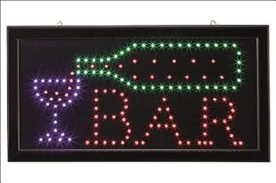 """Hellum 300024 LED Schild """"Open"""" mit Blink-Effekt, 181 bunte LED's, 48 x 25 cm, Innenbeleuchtung von Hellum bei Lampenhans.de"""