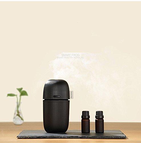 Zuniqul Mini Humidificateur d' Air / Diffuseur d'Huiles Essentielles Usb par Nébulisation Ultrasonique Aroma Portable pour Voiture - Noir