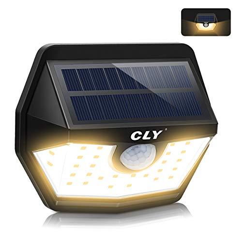 CLY Solarlampen für Außen mit Bewegungsmelder,Solarleuchte, 200 ° Weitwinkel Solarleuchten Solar Wandleuchte IP65 Solarlicht Wasserdichte [1800mAh] Solar Beleuchtung für Garten Patio (1 stück)