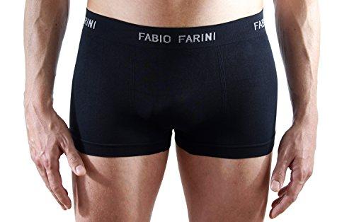 Fabio Farini 4er-Pack seamless Herren Boxershorts aus Mikrofaser, in 9 verschiedenen Farb-Sets set 3