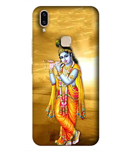 SAMRNG Amazing Designer Back Case Cover for Vivo V9 with The Unique Design of Lord Krishna with Orange backgroundWith The Beautiful Multicolour Colour