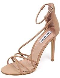 F1066 Sandalo Donna Beige STEVE MADDEN Scarpe Eco Leather Shoe Woman