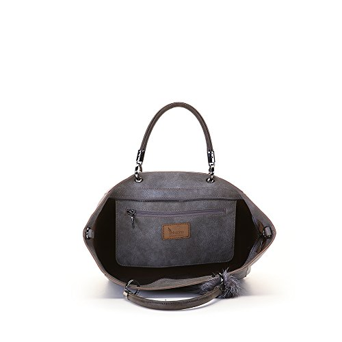 Abbacino - Pauline, borsa Donna grigio tortora