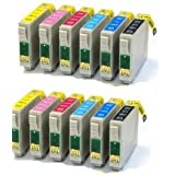 12 x Compatible Printer Ink Cartridges for use with Epson Stylus Photo 1400 & 1500W (T0791, T0792, T0793, T0794, T0795, T0796) (Non Oem)
