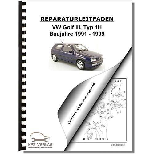 VW Golf 3, Typ 1H (91-95) Schaltplan, Stromlaufplan, Verkabelung, Elektrik Pläne