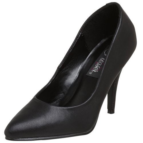 Pleaser Vanity-420, Scarpe Col Tacco Donna Blk Leather