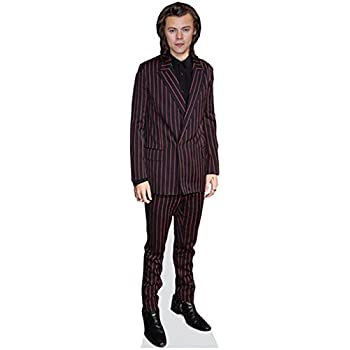 Celebrity Cutouts Harry Styles Black Outfit Pappaufsteller lebensgross