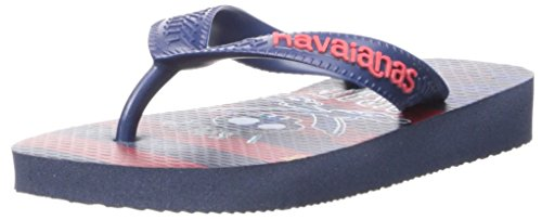 Havaianas Kids Jake and The Pirates Sandal, Navy Blue 25/26 BR/Little Kid (10 M US)