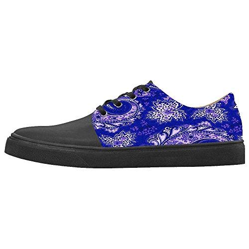 Dalliy Paisley Colored Print Women's canvas Footwear Sneakers Shoes Chaussures de toile Baskets D