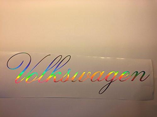 Volkswagen Aufkleber golf MK Aufkleber für VW GOLF VW POLO Aufkleber i love my volkswagen hologramm folie / Lazer / Chrom Folie carwapping folie no carbon