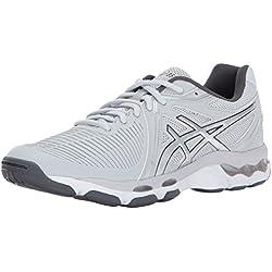 Asics Womens Gel-Netburner Ballistic Shoes, 5 UK, Glacier Grey/Silver/Dark Grey