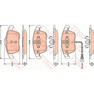 TRW Bremsbelagsatz Scheibenbremse vorne