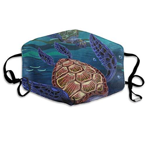 Zcfhike Benutzerdefinierte Mundmaske Anti-Staub Seahorse Gesichtsmaske Atmungsaktive Maske mit Verstellbarer Ohrschlaufe Winddicht und Warm Fashion6