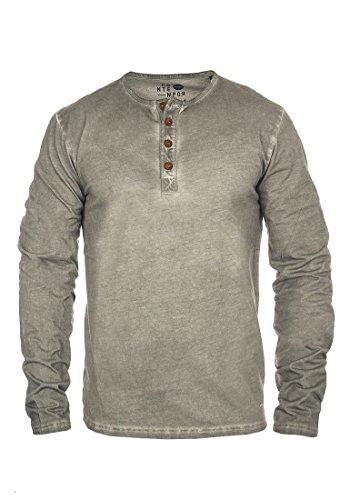 SOLID Timur Herren Longsleeve Granddad-Langarmshirt Mid Grey (2842)