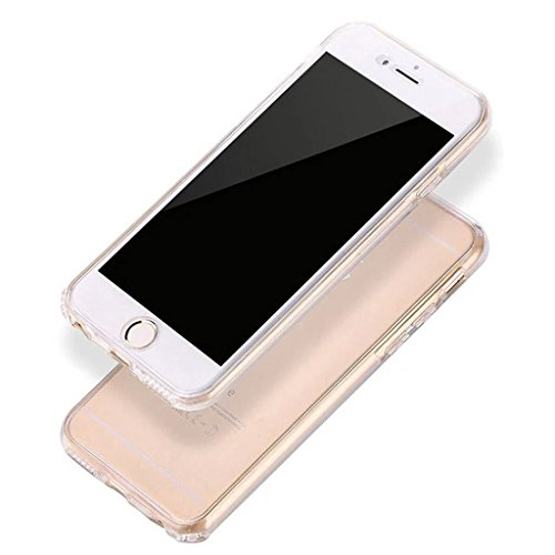 Coque Full Protecion iPhone 6 6s 360° INTEGRAL Silicone Transparent Etui TPU Gel Souple Intégral Avant Arrière Protecteur Anti-Choc Housse Sunroyal® Ultra Mince Case Cover de Bumper Invisible pour iPh Full Coque -02