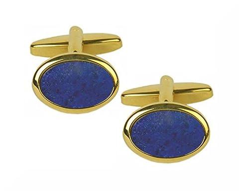 dalaco Pierre & Cristal Boutons de manchette, Lapis Lazuli Oval, Na