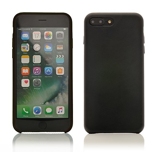 iProtect Kunstleder Schutzhülle Apple iPhone 7 Plus, iPhone 8 Plus flexibles Case in Dunkelblau Schwarz