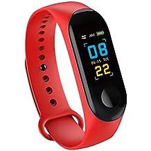 Konesky Fitness Tracker Monitor de Ritmo cardíaco Pulsera de presión Arterial Actividad Reloj Podómetro Contador de