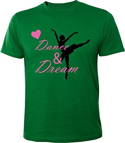 Mister Merchandise Herren Men T-Shirt Dance & Dream Tee Shirt bedruckt Grün