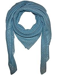 Superfreak® Baumwolltuch mit Silber Lurex°Tuch°Schal°100x100 cm°100% Baumwolle°alle Farben!!!