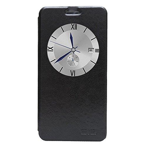 BeingHD custodia per Elephone P7000 Premium custodia con Finestra Custodia in pelle Protettiva Cuoio Portafoglio Flip Cover-Nero
