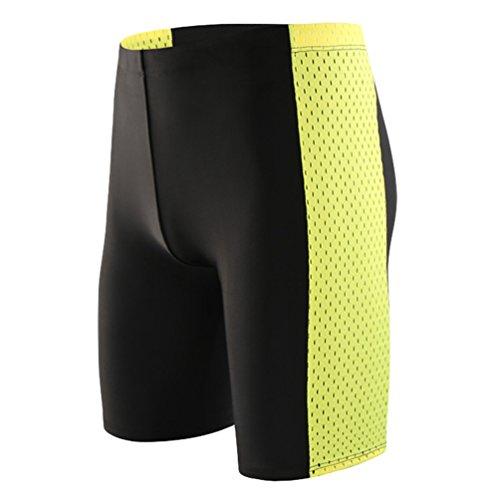 Baymate Herren Badehosen Spleißen Badeshorts für Männer Große Größen Schwimmhose Kurze Hose Stil 3