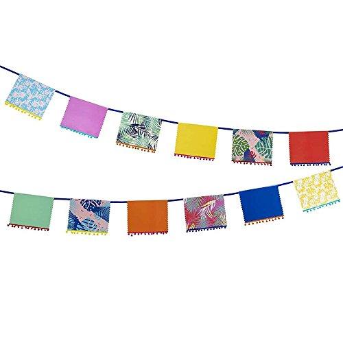 Fiesta; Farbenbuntes Dekorbanner mit kleinen Bommeln für Dekoration zuhause oder Partys; Bunt ()