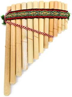 Zampoña Inca, sin tratar, gebogen–12x 17cm–Comercio Justo