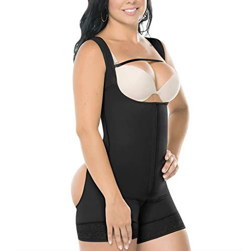 hunpta@ Shapewear Damen,Panties Hipsters für Damen,Frauen Nahtlose Firm Control Shapewear Faja offene Büste Bodysuit Body Shaper Formende Tops für Damen(Schwarz,M) -
