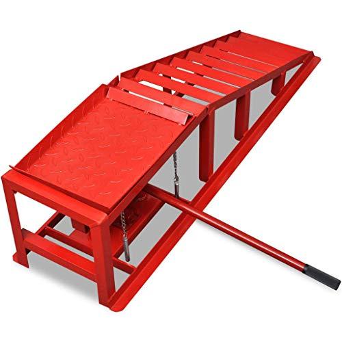 Xinglieu rampe per sollevamento auto 2 pz acciaio rosso for Rampe sollevamento auto