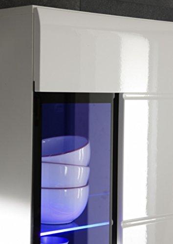 Regalwand Bravo Trend m. LED Beleuchtung- Weiß Hochglanz - 2