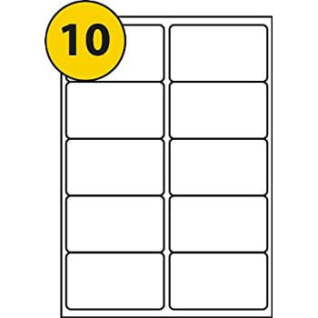 10 labels per sheet self adhesive printable with laser or copier or
