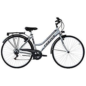 41HN2%2BpwHwL. SS300 Frejus, City Bike Donna Women's, Argento, L