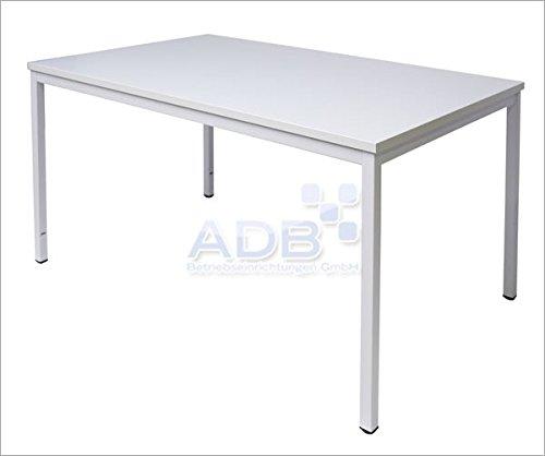 ADB Schreibtisch L80 120 160 200 x B80xH76 cm Lichtgrau, Tischgröße:120 x 80 x 76 cm