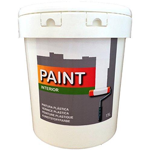 Pintura plástica blanca para interior de 15 litros (salon, baño, dor