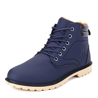 Aiurbag Pour Les Hommes-bottines-casual-confortable-flat-pu (polyuréthane) -black Blue Brown Blue