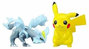 Tomy - T18043 - Pack 2 Mini Figurines - Pikachu vs Kyurem