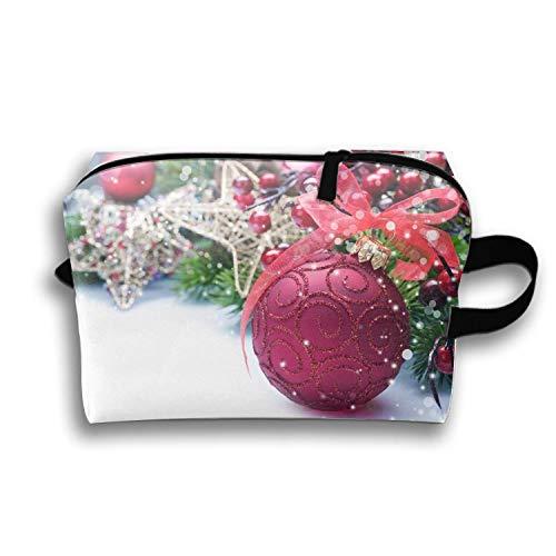Cosmetic Bag Zipper Storage Bag Portable Ladies Travel Holiday Christmas Ornaments Makeup Bag -