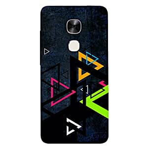 GripIt Colourful Triangles Printed Back Cover for LeEco Le2 Pro