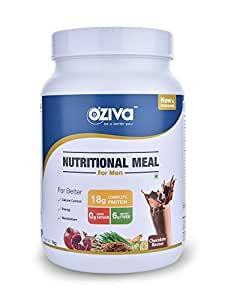 OZiva Nutritional Meal for Men, 1 kg, Chocolate, 31 Serving, 0g added Sugar