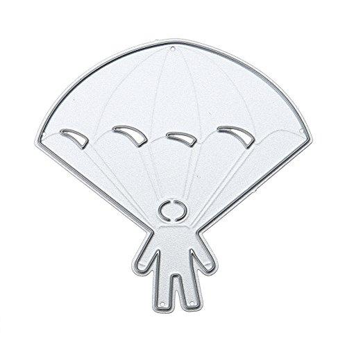 Metall-Stanz-Schablone zum Basteln, für das Sammelalbum, Karten, Bastelarbeiten usw. Fallschirm-Design