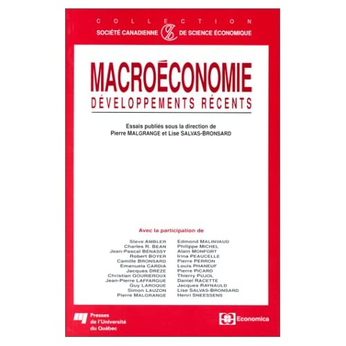 Macroéconomie : Développements récents