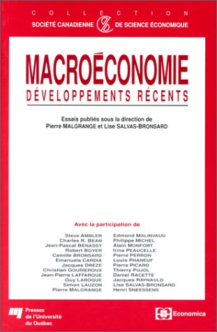 Macroéconomie : Développements récents par Collectif